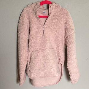 Old Navy Girls Pink Sherpa Sweatshirt Hoodie